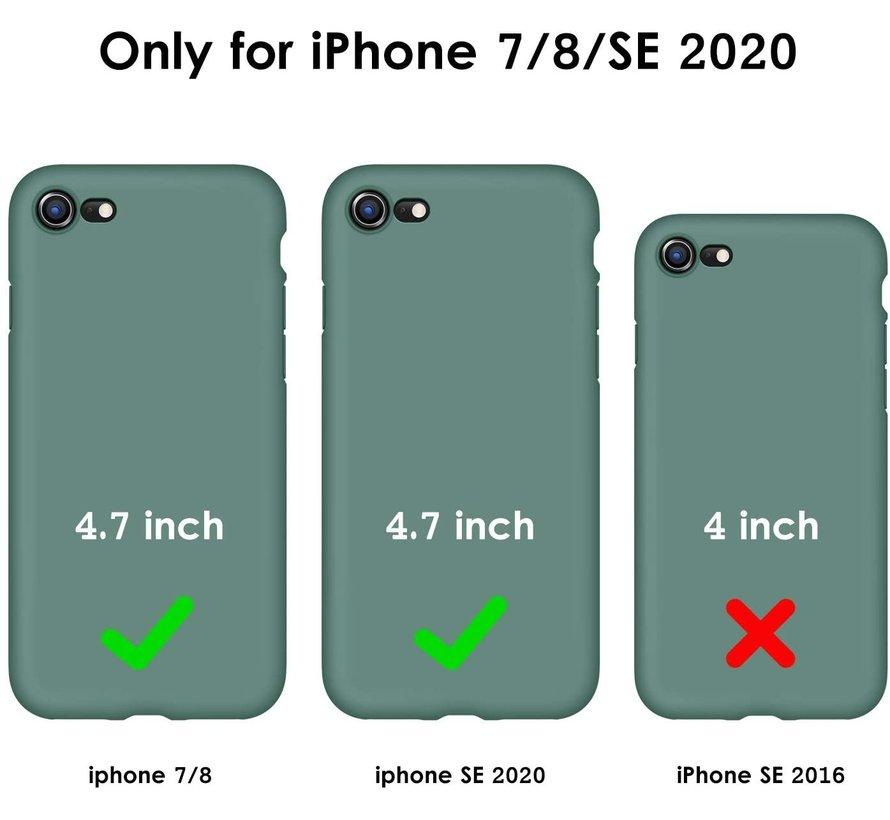 Shieldcase iPhone 7 / iPhone 8 / iPhone SE 2020 hoesje siliconen (donkergroen)