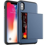 ShieldCase® Kaarthouder case met slide iPhone X / Xs (blauw)
