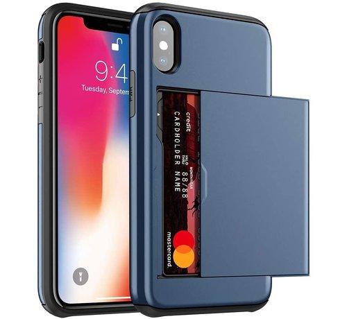 ShieldCase Shieldcase Kaarthouder case met slide iPhone X / Xs (blauw)