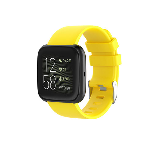 Fitbit Versa silicone band (geel)