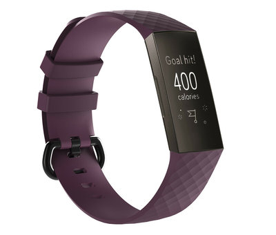 Fitbit Charge 3 silicone band (paars)