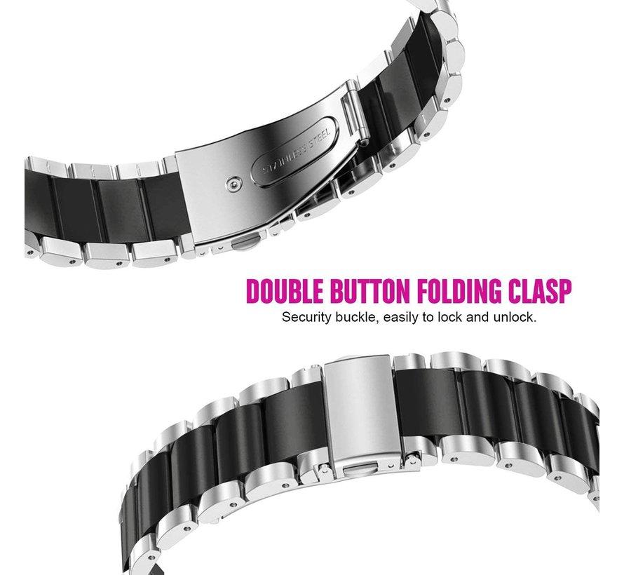Samsung Gear S3 stalen band (zilver/zwart)
