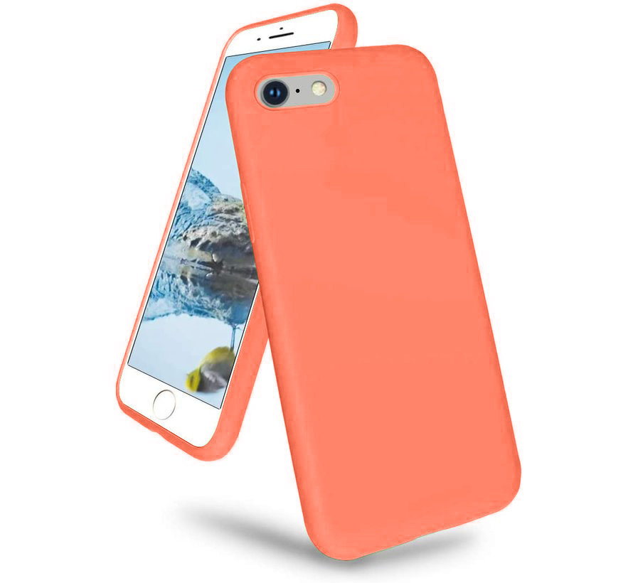 Shieldcase iPhone 7 / iPhone 8 / iPhone SE 2020 hoesje siliconen (oranje)