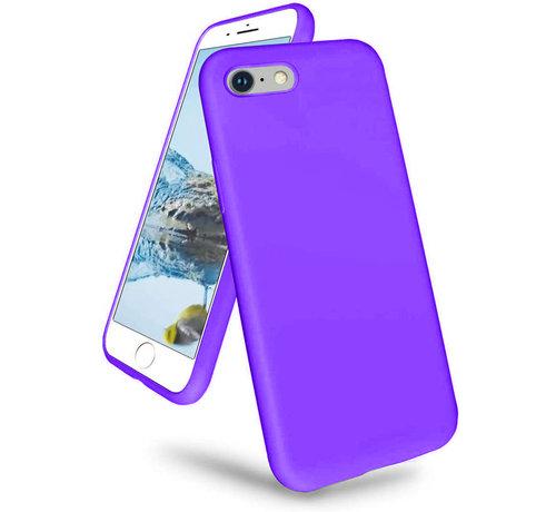 ShieldCase Shieldcase iPhone 7 / iPhone 8 / iPhone SE 2020 hoesje siliconen (donkerpaars)