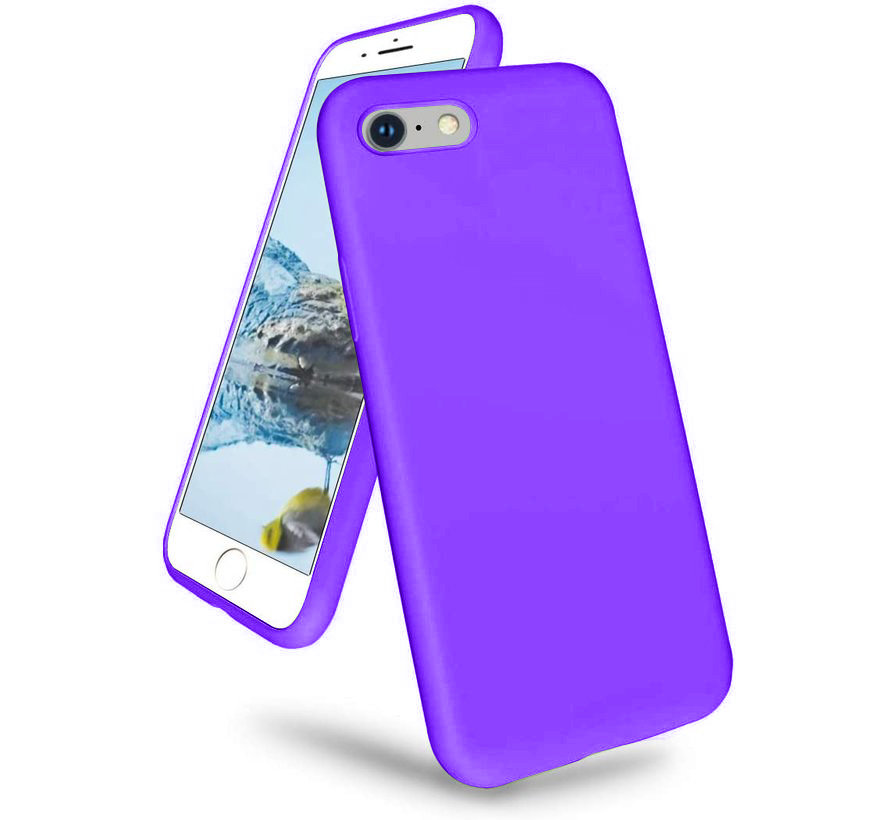 Shieldcase iPhone 7 / iPhone 8 / iPhone SE 2020 hoesje siliconen (donkerpaars)