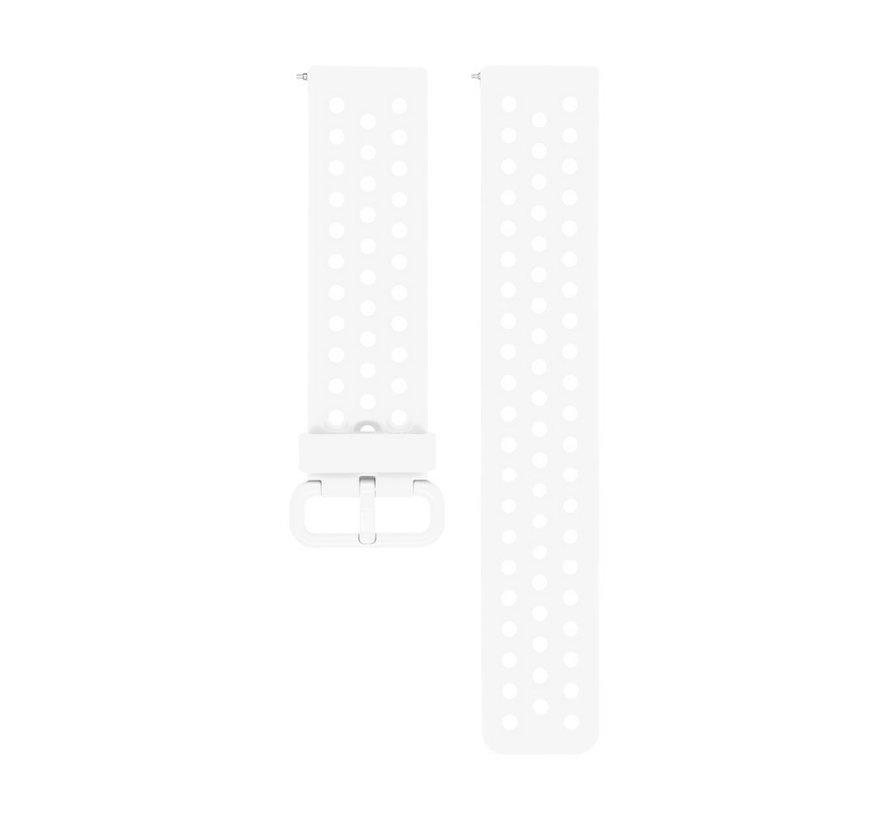 Fitbit Versa siliconen bandje met gaatjes (Wit)