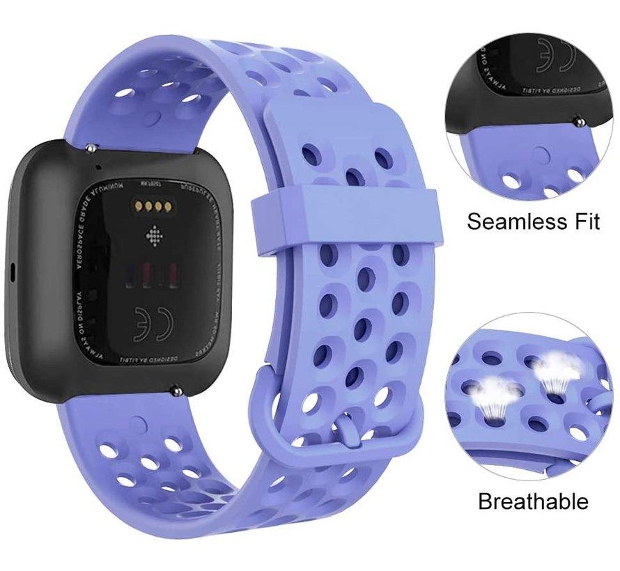 Fitbit Versa siliconen bandje met gaatjes (paars)