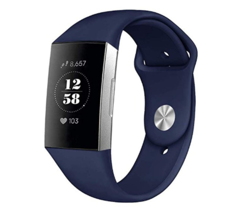 Fitbit Charge 4 sport band (donkerblauw)