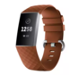 Fitbit Charge 4 silicone band (bruin)