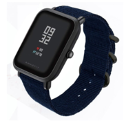 Xiaomi Amazfit Bip nylon gesp band (blauw)