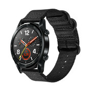 Huawei Watch GT nylon gesp band (zwart)