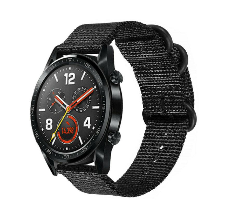 Huawei Watch GT nylon gesp band (zwart)