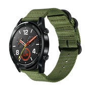 Huawei Watch GT nylon gesp band (groen)