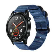 Huawei Watch GT nylon gesp band (blauw)