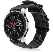 Samsung Galaxy Watch nylon gesp band (zwart)