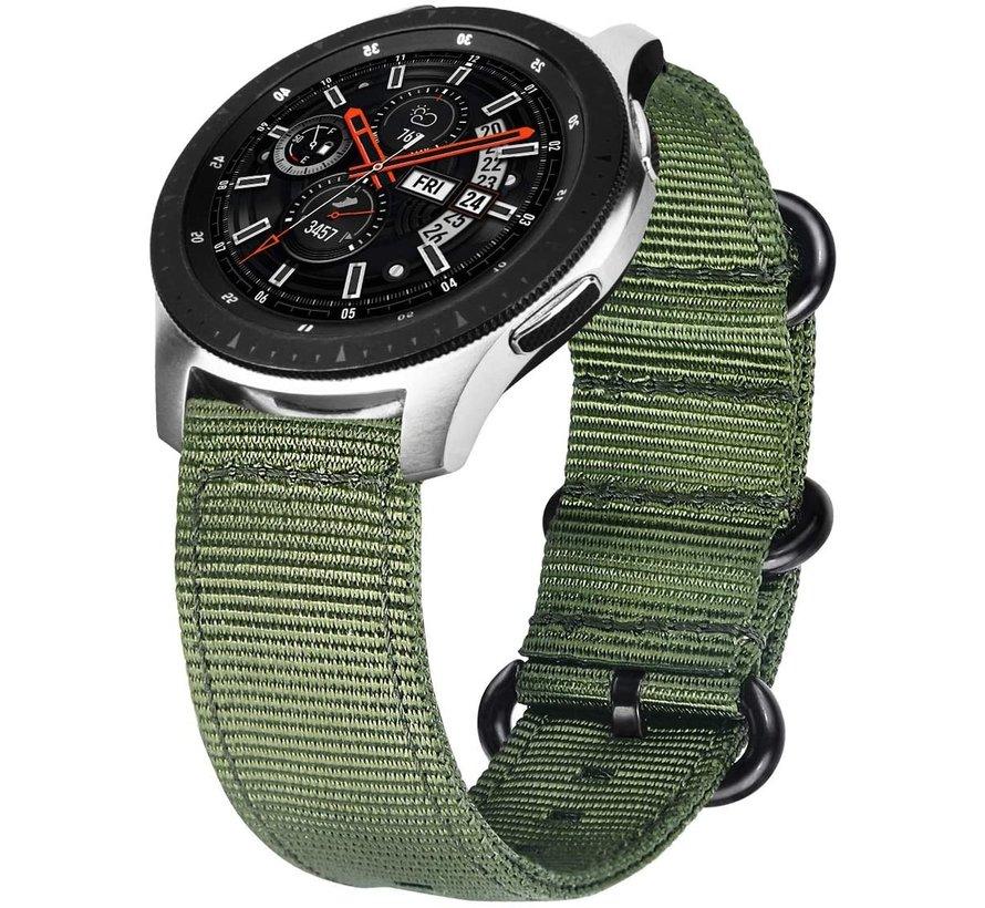 Samsung Galaxy Watch nylon gesp band (groen)