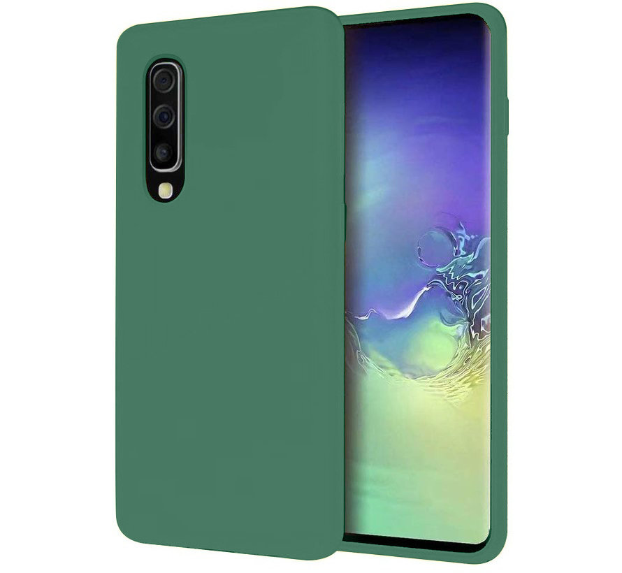 Shieldcase Silicone case Samsung Galaxy A30s (groen)
