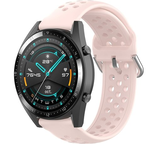 Huawei Watch GT siliconen bandje met gaatjes (roze)