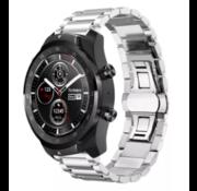 Ticwatch Pro stalen band (zilver)