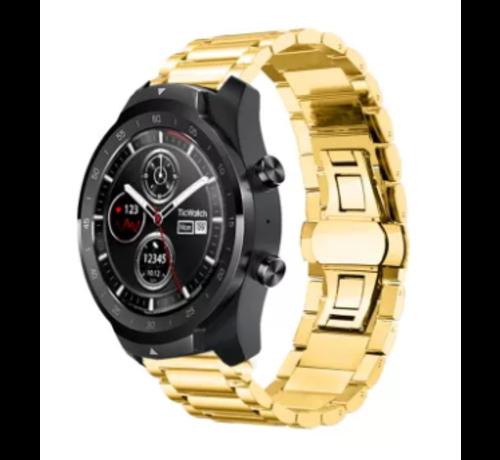 Ticwatch Pro stalen band (goud)