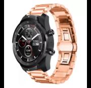 Ticwatch Pro stalen band (rosé goud)