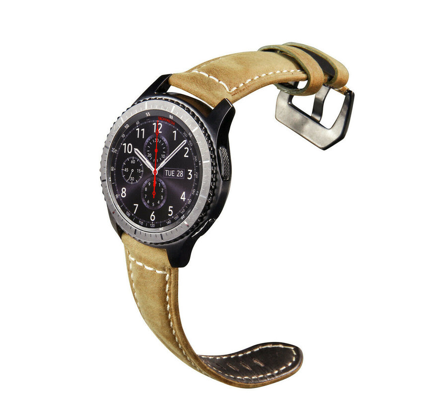 Samsung Galaxy Watch leren bandje (beige)