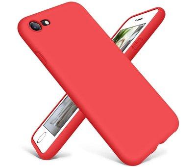 ShieldCase Shieldcase Siliconen hoesje met camera bescherming iPhone 7 / 8 (rood)