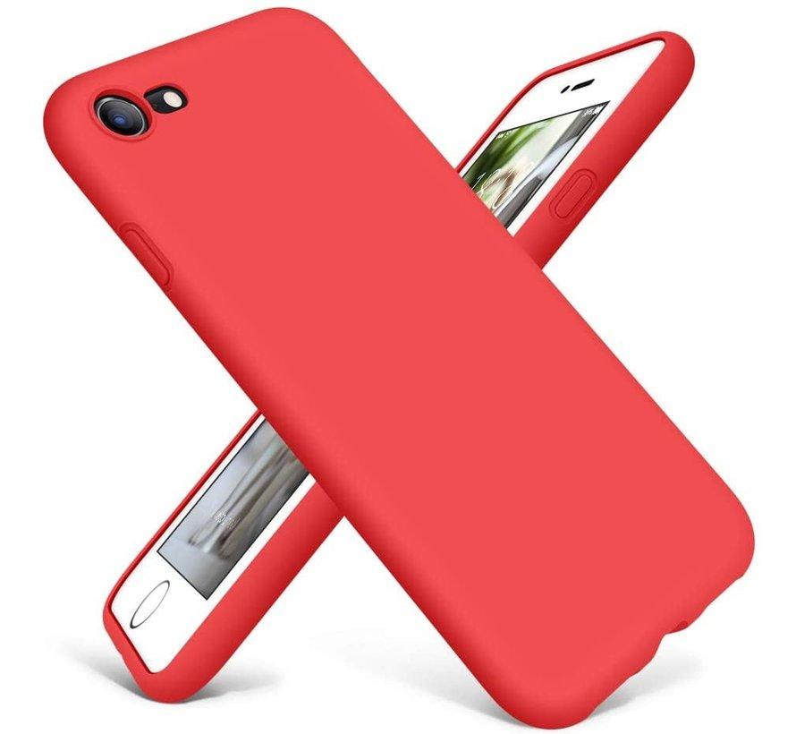 Shieldcase Siliconen hoesje met camera bescherming iPhone 7 / 8 (rood)