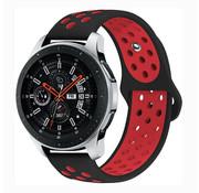 Samsung Galaxy Watch sport band (zwart/rood)