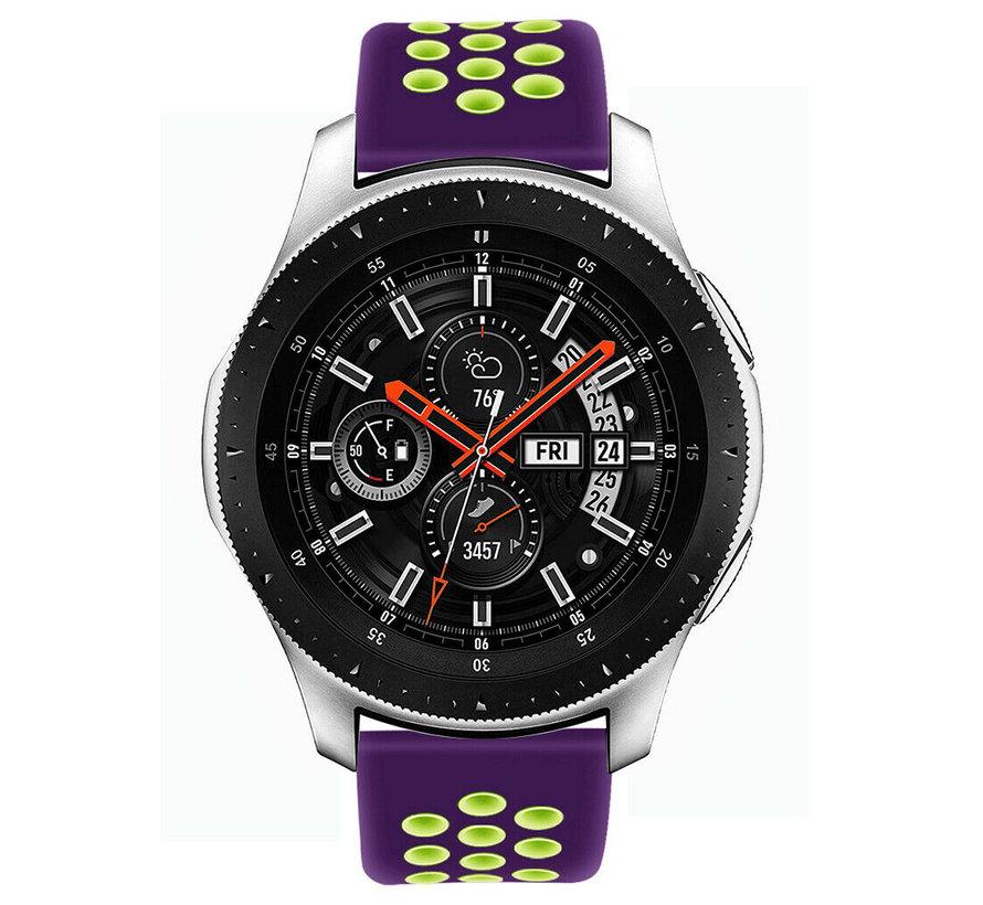 Samsung Galaxy Watch sport band (paars/geel)