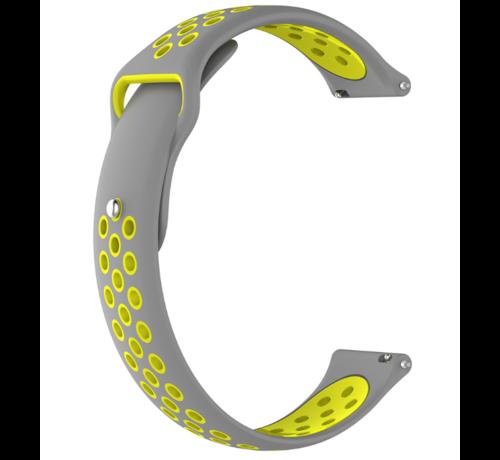Huawei Watch GT sport bandje (grijs/geel)