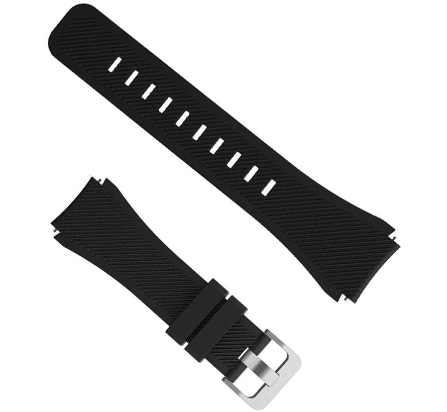 Fossil Gen 5 silicone band (zwart)