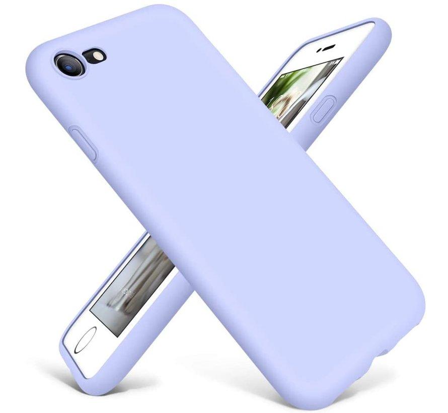 Shieldcase Siliconen hoesje met camera bescherming iPhone SE 2020 (paars)