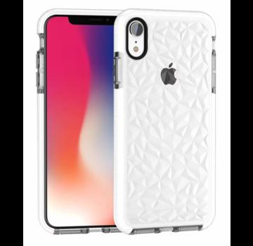 ShieldCase® Diamanten case iPhone Xr (wit)