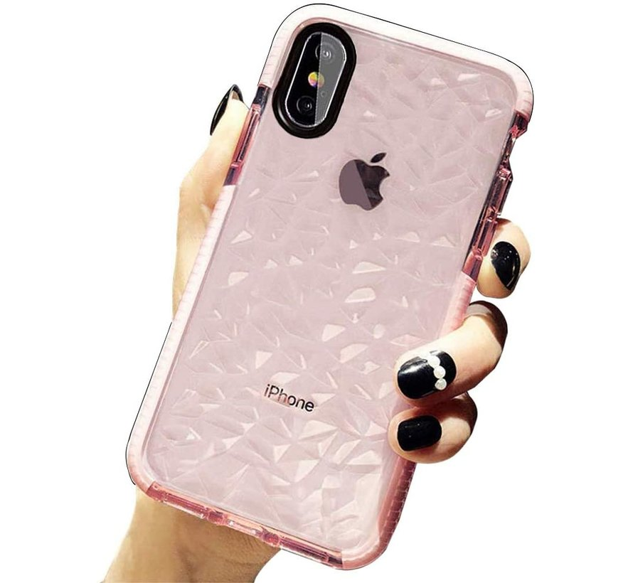 ShieldCase diamanten case iPhone X / Xs (roze)