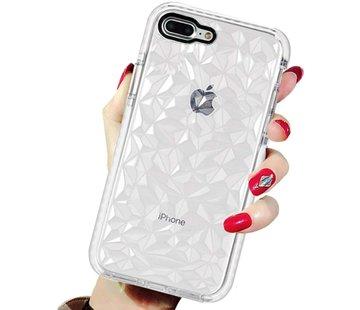 ShieldCase® Diamanten case iPhone 8 Plus / 7 Plus (wit)