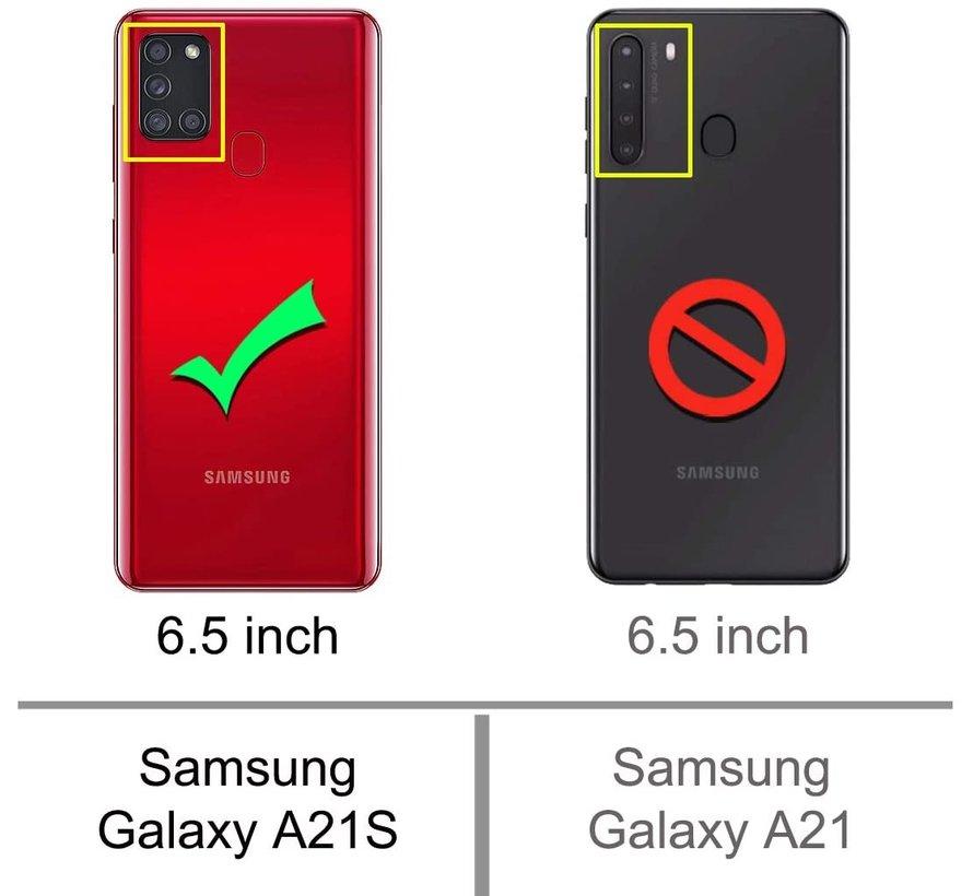 Shieldcase Samsung Galaxy A21s Slim case (roze)