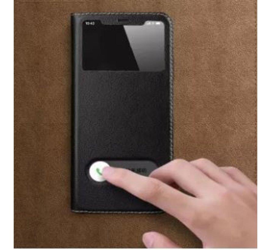 ShieldCase Flipcase met open scherm iPhone SE 2020 (zwart)