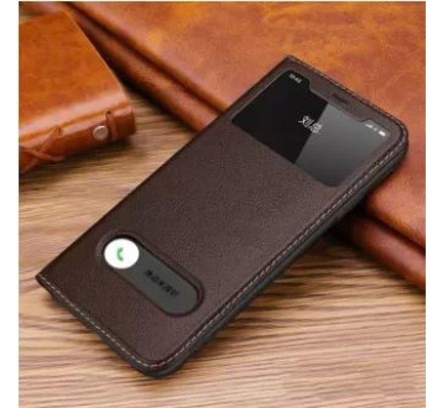 ShieldCase Flipcase met open scherm iPhone 11 (bruin)