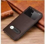 ShieldCase® Flipcase met open scherm iPhone X / Xs (bruin)