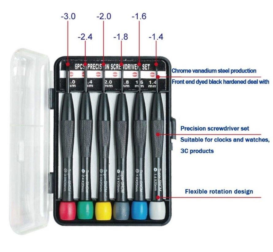 6-delige kleine platte schroevendraaierset  8PK-2062