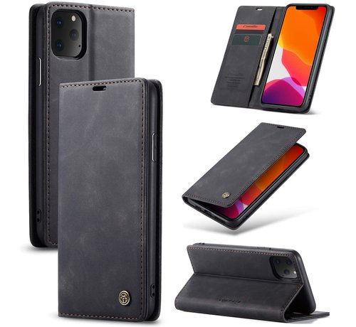 CaseMe CaseMe Luxe bookcase iPhone 11 Pro Max (zwart)