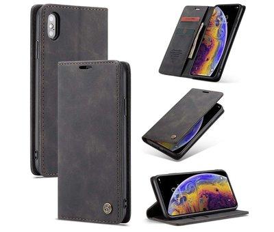 CaseMe CaseMe Luxe bookcase iPhone X / Xs (zwart)