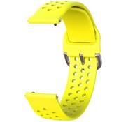 Garmin Vivoactive 3 siliconen bandje met gaatjes (geel)