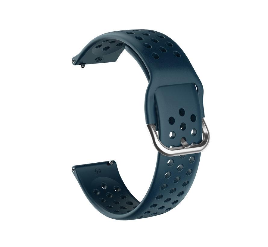 Samsung Galaxy Watch siliconen bandje met gaatjes (rock green)