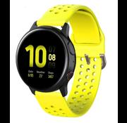Samsung Galaxy Watch siliconen bandje met gaatjes (geel)