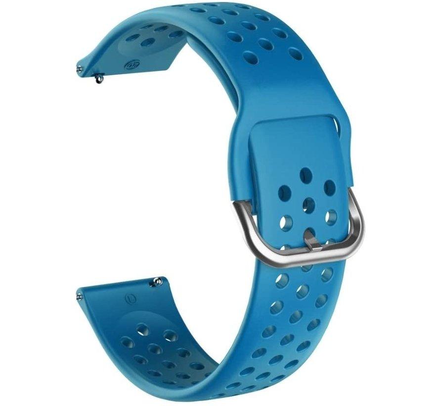 Huawei Watch GT siliconen bandje met gaatjes (lichtblauw)