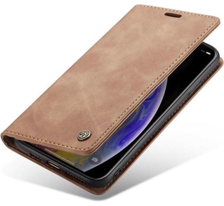 CaseMe Luxe bookcase iPhone X / Xs (bruin)