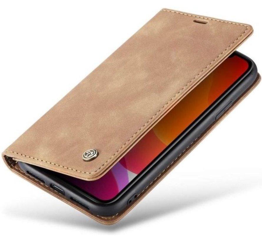 CaseMe Luxe bookcase iPhone 11 (bruin)