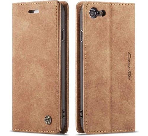 CaseMe CaseMe Luxe bookcase iPhone SE 2020 (bruin)